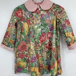 Sweet Chestnuts girls 4T coat waxed floral jacket